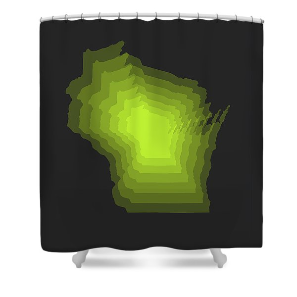 Map Of Wisconsin Shower Curtain