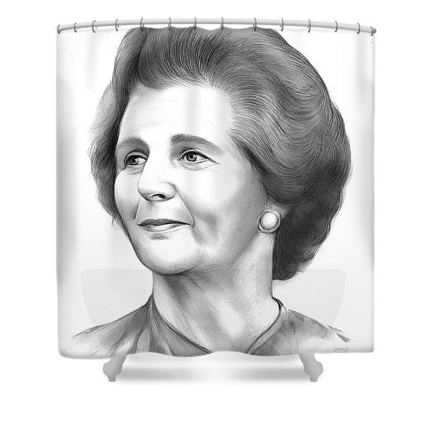 Margaret Thatcher Shower Curtain