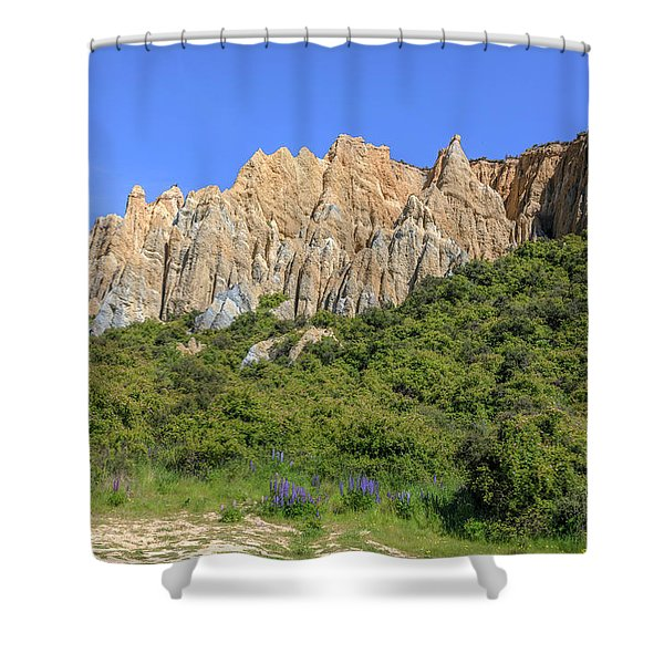 Omarama - New Zealand Shower Curtain