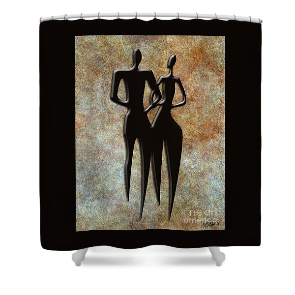 2 People Shower Curtain