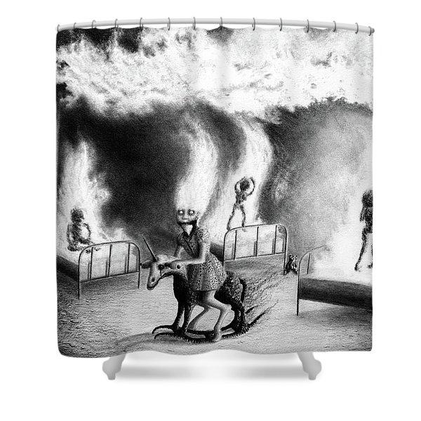 Philippa The Crackling Rider - Artwork Shower Curtain