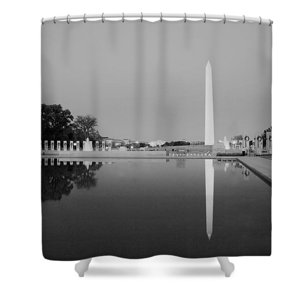 Reflection Of The Washington Monument In The Pool At Pool At The National Mall. Original Image From  Shower Curtain