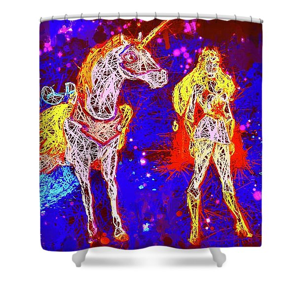 She - Ra And Swift Wind Shower Curtain