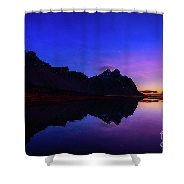 Stokksnes Sunrise Shower Curtain