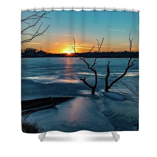 2019-012/365 January Sunset Shower Curtain