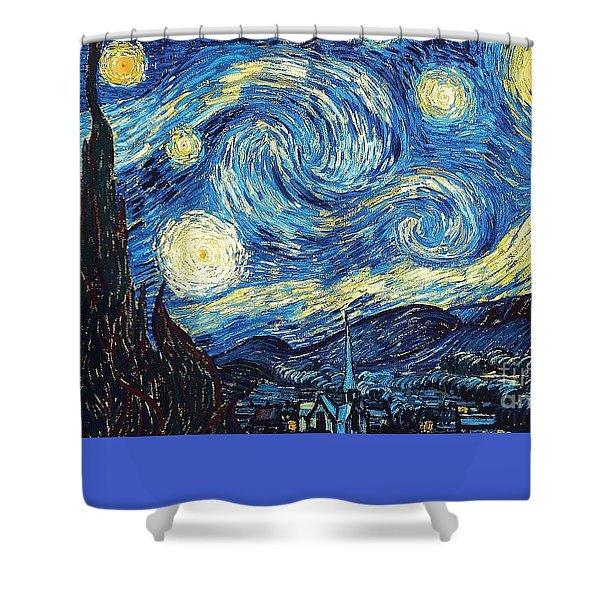 Starry Night By Van Gogh Shower Curtain