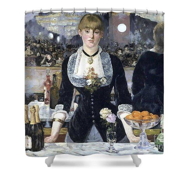 A Bar At The Folies Bergere Shower Curtain