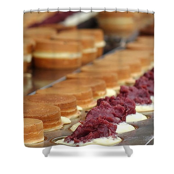 Making Red Bean Cakes Shower Curtain