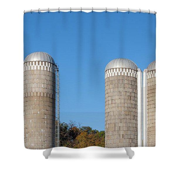 3 Silos Shower Curtain
