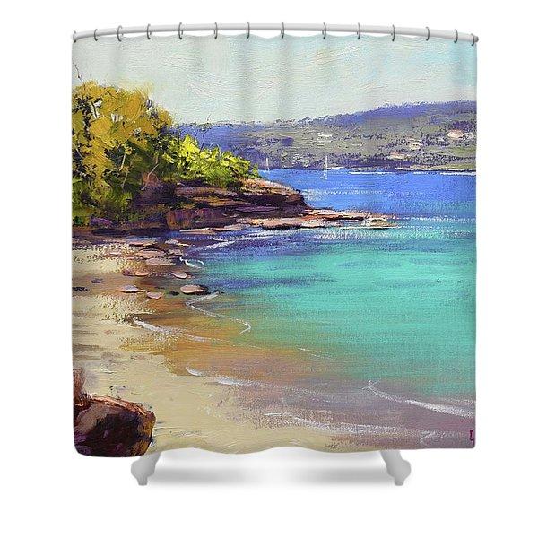 Sydney Harbour Beach Shower Curtain