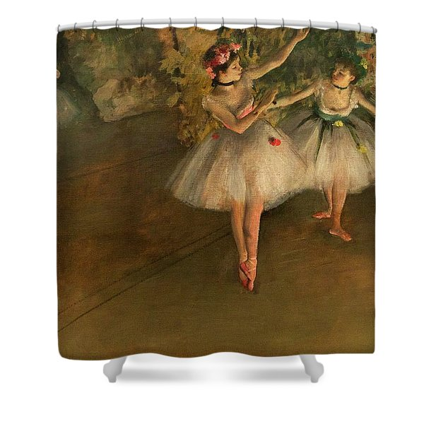 Two Dancers On A Stage Shower Curtain