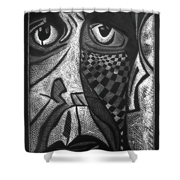Weary. Shower Curtain