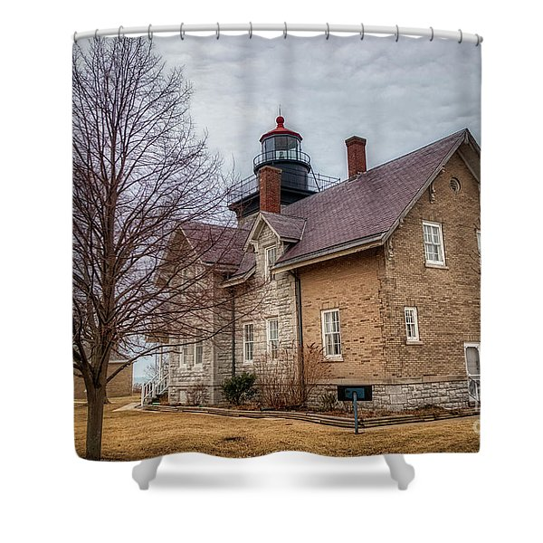 30 Mile Lighthouse  Shower Curtain