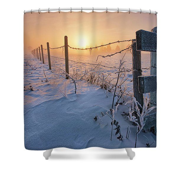 -30 Sunrise Shower Curtain
