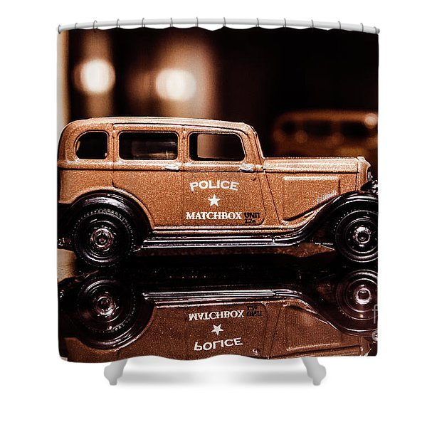 33 Plymouth Police Shower Curtain
