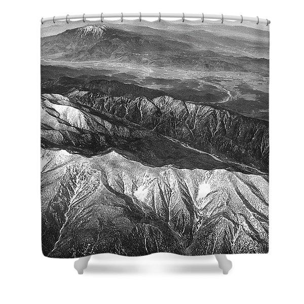 35,000 Feet Over Utah Shower Curtain