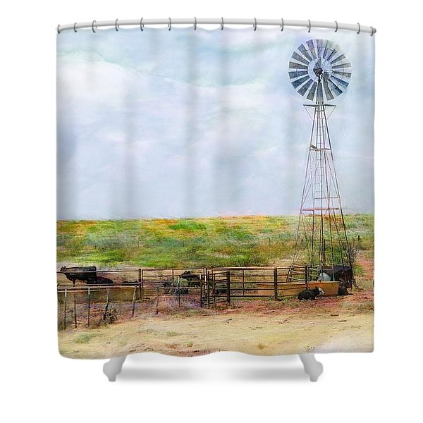 Classic Cattle  Shower Curtain