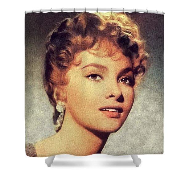 Gina Lollobrigida, Vintage Movie Star Shower Curtain