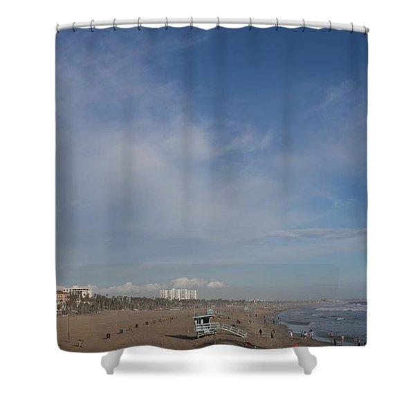 Santa Monica Beach, Santa Monica, California Shower Curtain