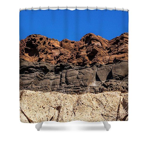 4 Textures 4 Colors Shower Curtain