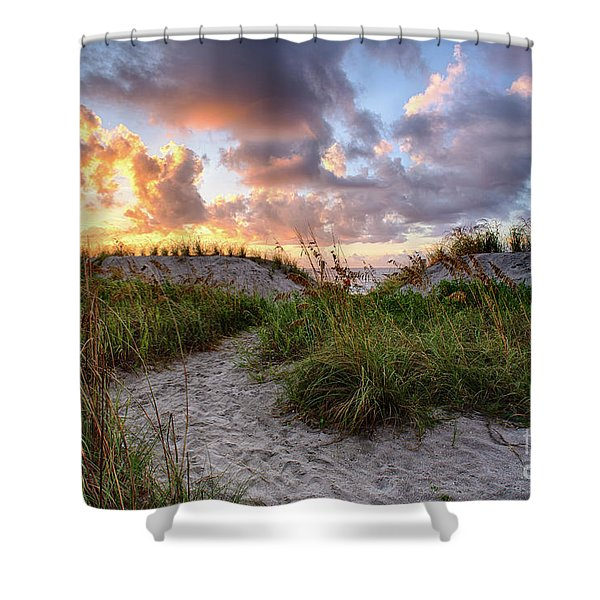 48th Ave. Sunrise North Myrtle Beach Shower Curtain