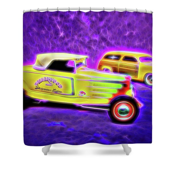 32 Roadster And 49 Woody Shower Curtain