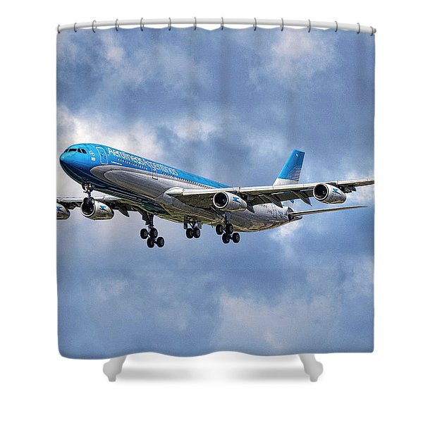 Aerolineas Argentinas Airbus A340-313 Shower Curtain