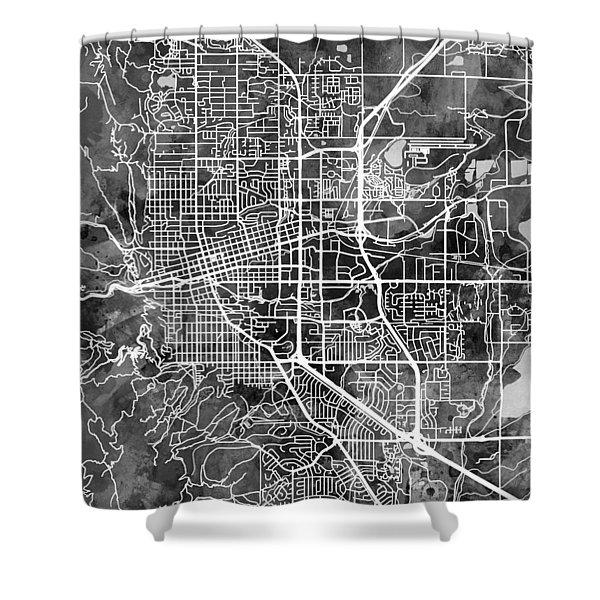 Boulder Colorado City Map Shower Curtain