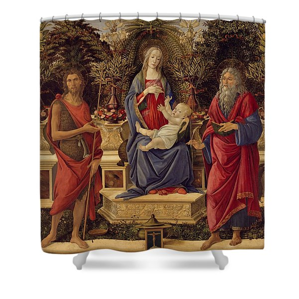 Madonna With Saints Shower Curtain