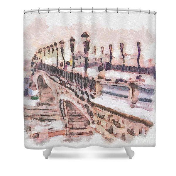 Moscow Russia   Shower Curtain