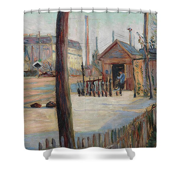 Railway Junction Near Bois-colombes Shower Curtain