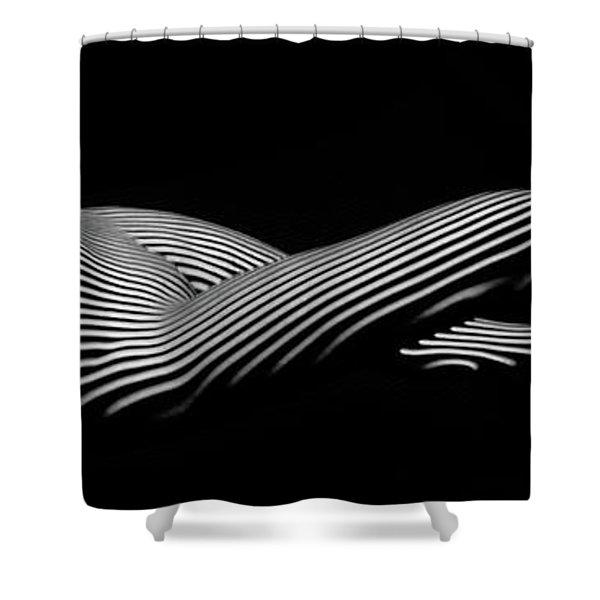 5298 Zebra Woman H Shower Curtain