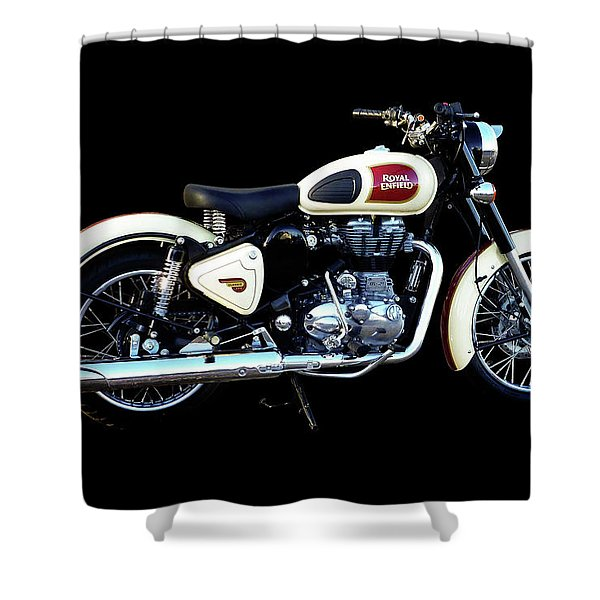 Royal Enfield Classic 500 Shower Curtain