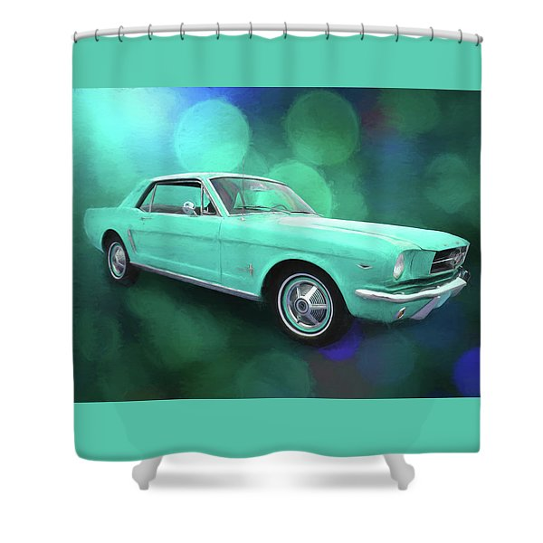 65 Mustang Shower Curtain