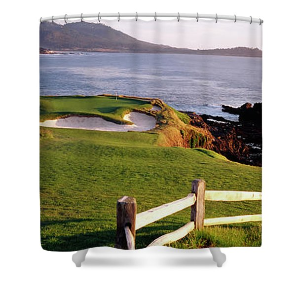 7th Hole At Pebble Beach Golf Links Shower Curtain