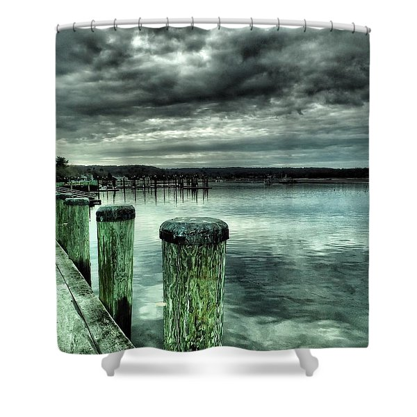 Northport Dock Shower Curtain