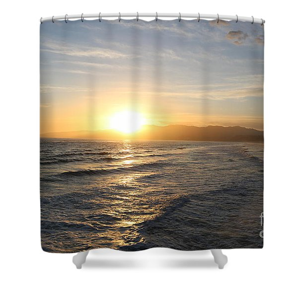 Pacific Sunset , Santa Monica, California Shower Curtain