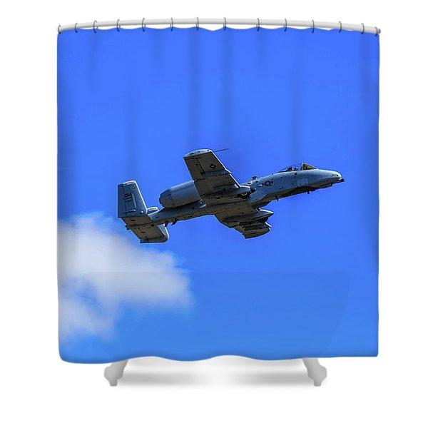 A-10c Thunderbolt II In Flight Shower Curtain