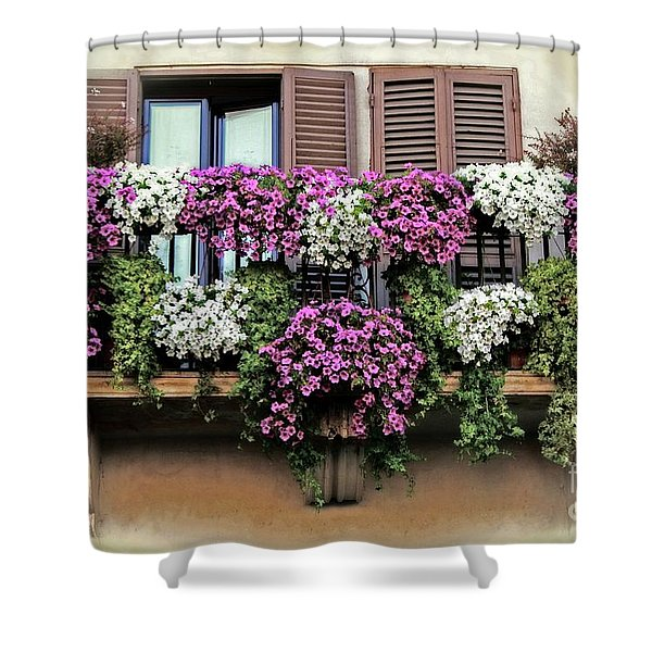A Balcony In Rome Shower Curtain