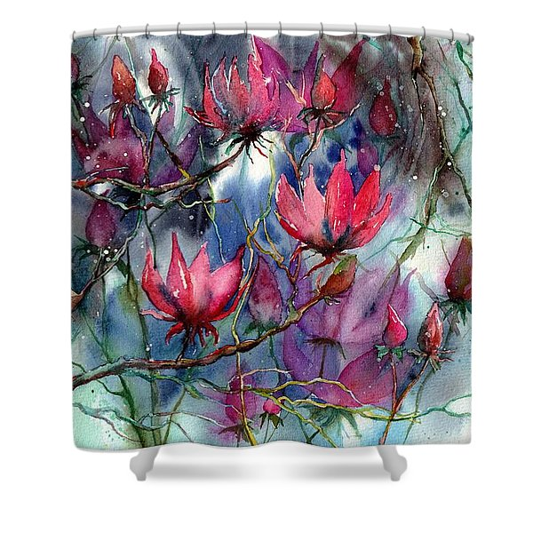 A Blooming Magnolia Shower Curtain