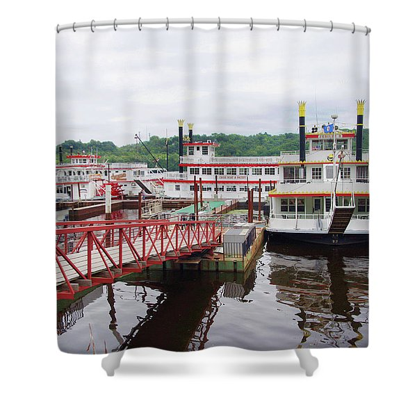 A Calliope Of Riverboats Shower Curtain