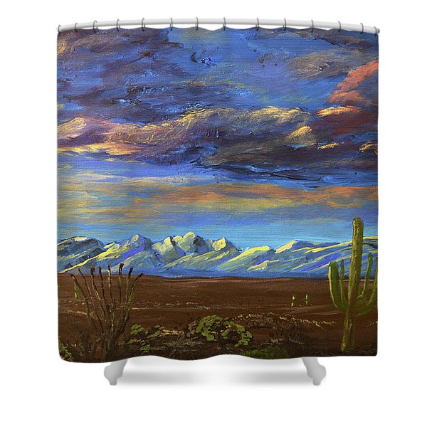 A Catalina Winter Shower Curtain