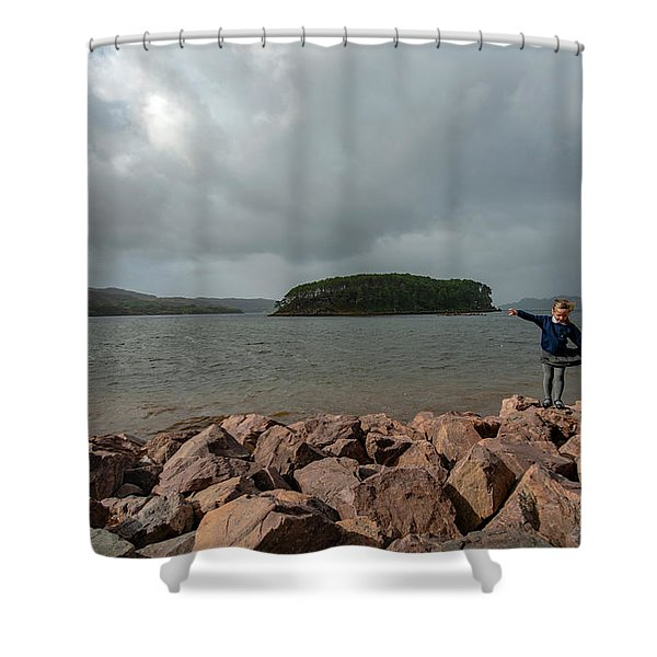 A Charming Little Girl In The Isle Of Skye 1 Shower Curtain