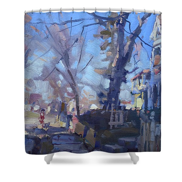 A Cold Sunny Afternoon Shower Curtain