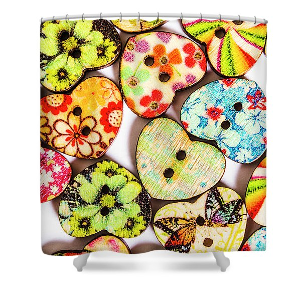A Craft Of Hearts Shower Curtain