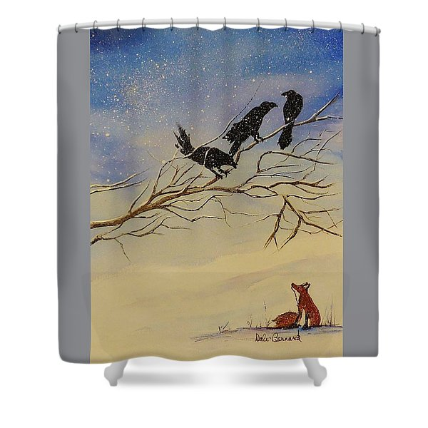 A Fox And His Cronies Shower Curtain