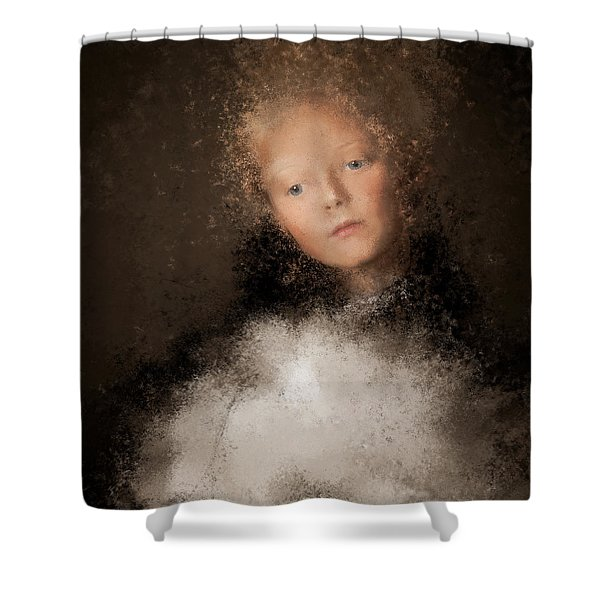 A Girl With The Hand Fan Shower Curtain