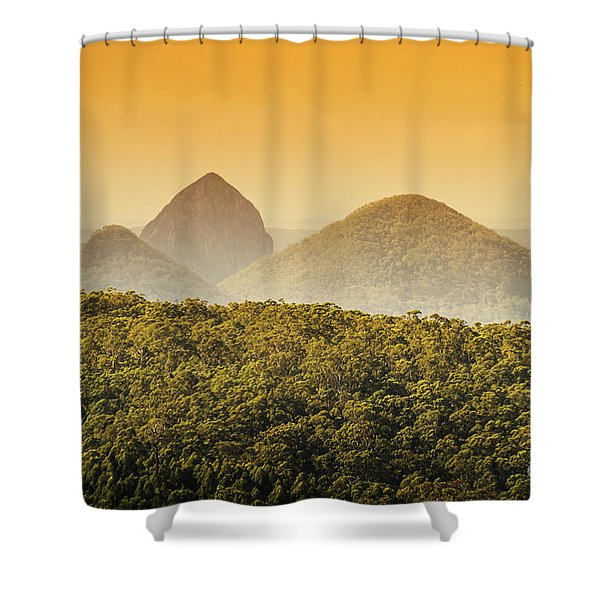 A Glowing Afternoon Shower Curtain