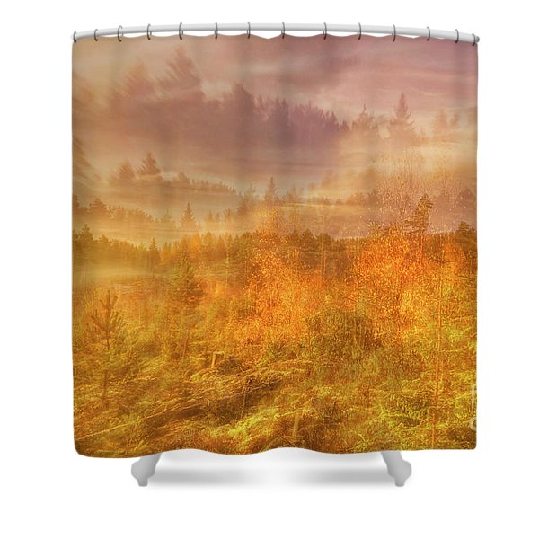 A Hasty Morning Shower Curtain