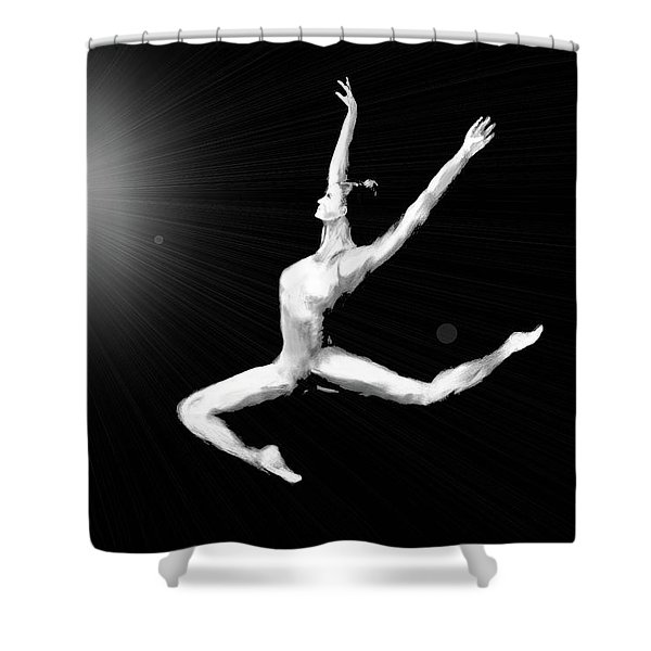 A Leap Into The Light Shower Curtain